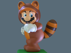 Super Mario 3D Land Tanooki Suit Mario Statue