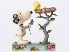 """Peanuts """"Nest Warming Gift"""" Snoopy and Woodstock Figure (Jim Shore)"""
