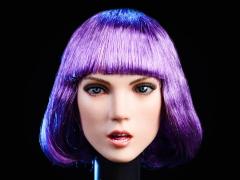 Female Head Sculpt (Purple Hair) 1/6 Scale Accessory