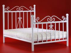 Bed Base (White) & Mattress 1/6 Scale Set