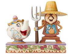 Beauty and the Beast Disney Traditions Cogsworth & Mrs. Potts (Jim Shore)