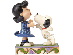 """Peanuts """"Agh! I've been kissed by a dog!"""" Lucy and Snoopy Figure (Jim Shore)"""