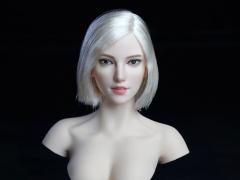 Cosplay Series 1/6 Scale Female Head Sculpt (Silver Hair)