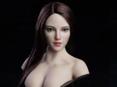 Cosplay Series 1/6 Scale Female Head Sculpt (Brown Hair)