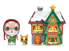 Pop! Town Christmas: Peppermint Lane - Santa Claus & Nutmeg with House