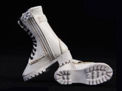 Zipper Boots (White) 1/6 Scale Accessory Set