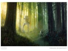 Star Wars Patrolling the Endor Moon Limited Edition Giclee