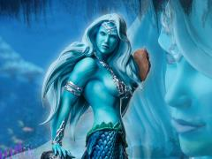 Mermaid Sharleze (Blue Skin) 1/4 Scale Limited Edition Statue