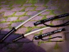 Samurai Sword (Black & White) 1/6 Scale Accessory Set