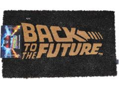 Back to the Future Logo Door Mat