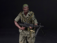 Army 25th Infantry Division Pocket Elite Series M60 Gunner 1/12 Scale Figure