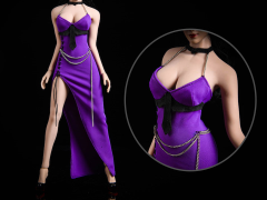 Purple Dress 1/6 Scale Accessory Set