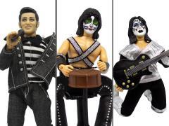 """Elvis Presley & KISS Set of 3 Mego 8"""" Figures"""