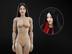 Asian Beauty Head Sculpture & 3.0 Female Body 1/6 Scale Set (Straight Hairstyle)