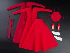 Ancient Red Dress 1/6 Scale Accessory Set