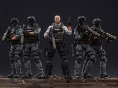 City Police Riot Team 1/18 Scale Set