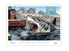 Jaws You're Gonna Need A Bigger Con! Lithograph SDCC 2019 Exclusive