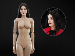 Asian Beauty Head Sculpture & 3.0 Female Body 1/6 Scale Set (Twin Bun Hairstyle)