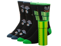 Nintendo Super Mario Warp Pipe Crew Socks Two-Pack