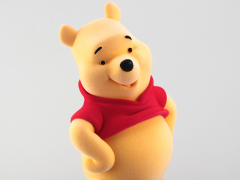Winnie the Pooh Sculpy X Winnie-the-Pooh (Flocking Ver.) Figurine