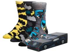 DC Comics Batmobile Crew Socks Three-Pack