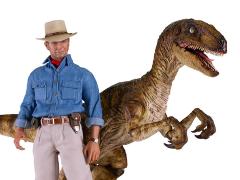 Jurassic Park Dr. Alan Grant & Velociraptor 1/6 Scale Figure Two-Pack