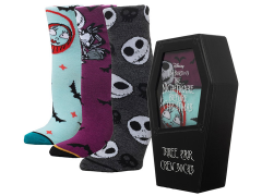 The Nightmare Before Christmas Coffin Crew Socks Three-Pack