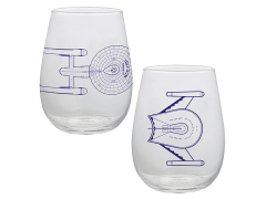 Star Trek Set of 2 Contour Glasses