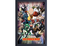 One-Punch Man Group Shot Framed Art Print