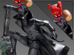 Spider-Man: Into the Spider-Verse Battle Diorama Series Noir & Spider-Ham 1/10 Art Scale Limited Edition Statue