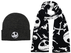 The Nightmare Before Christmas Beanie & Scarf Set