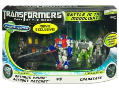 Transformers: Dark of the Moon Cyberverse Optimus Prime & Autobot Ratchet Vs. Crankcase (Battle in the Moonlight)