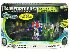Transformers: Dark of the Moon Cyberverse Optimus Prime & Autobot Ratchet Vs. Crankcase (Battle in the Moonlight)