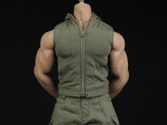 Green Hoodie Vest & Pants 1/6 Scale Accessory Set