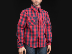 Red Plaid Shirt & Jeans 1/6 Scale Accessory Set