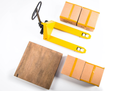 Forklift (Pallet Jack) Five Toys 1/6 Scale Accessory Set (Yellow)