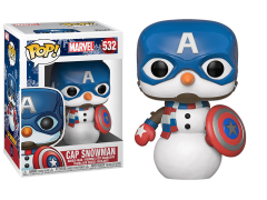 Pop! Marvel: Holiday - Captain America Snowman