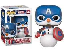 Pop! Marvel: Holiday - Captain America Snowman