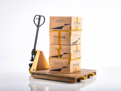 Forklift (Pallet Jack) Five Toys 1/6 Scale Accessory Set (Yellow Weathered)