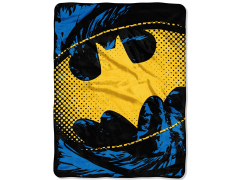 "DC Comics Batman ""Ripped Shield"" Micro Raschel Throw Blanket"