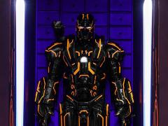 Iron Man 2 MMSC013 Neon Tech War Machine Hall of Armor Miniature Collectible
