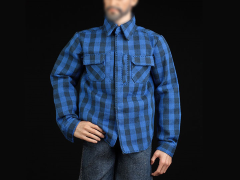 Blue Plaid Shirt & Jeans 1/6 Scale Accessory Set