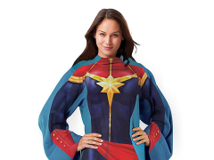 Marvel Captain Marvel Comfy Throw Blanket with Sleeves
