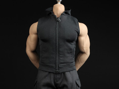 Black Hoodie Vest & Pants 1/6 Scale Accessory Set