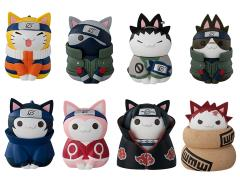 Naruto Nyaruto! Cats of Konoha Village Box of 8 Figures With Premium Can
