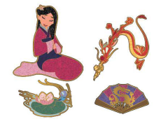 Mulan Enamel Pin Set