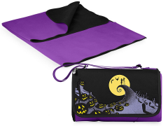 The Nightmare Before Christmas Outdoor Picnic Blanket & Blanket Tote (Purple)