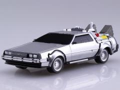 Back to the Future II Movie Mecha #12 Pullback DeLorean 1/43 Scale Model Kit