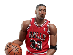 NBA Motion Masterpiece Scottie Pippen 1/9 Scale Figure With White Ball
