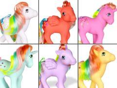 My Little Pony Rainbow Collection Set of 6 Retro Dolls